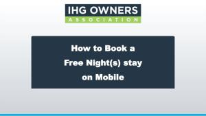 How to Book Free Nights on Mobile